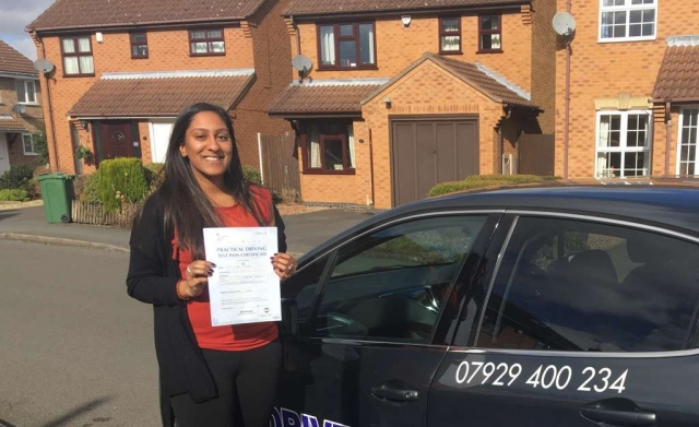 driving lessons leicester - Panchal Driving Academy - Talesha